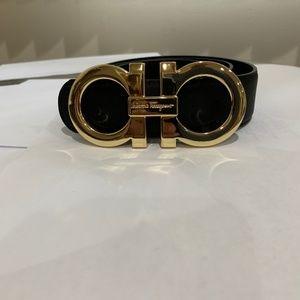 Black & Gold Reversible Ferragamo Belt